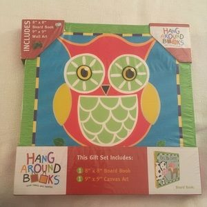 Gift set of canvas wall art to hang & board book